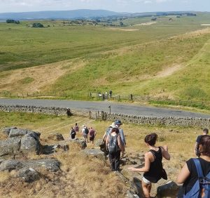 Walkers on the Northumbrian hills