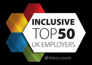 Top 50 inclusive UK employers logo