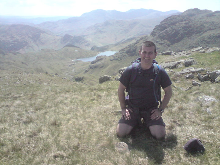 Crew Manager Roy Lewis during the Hadrian Hike