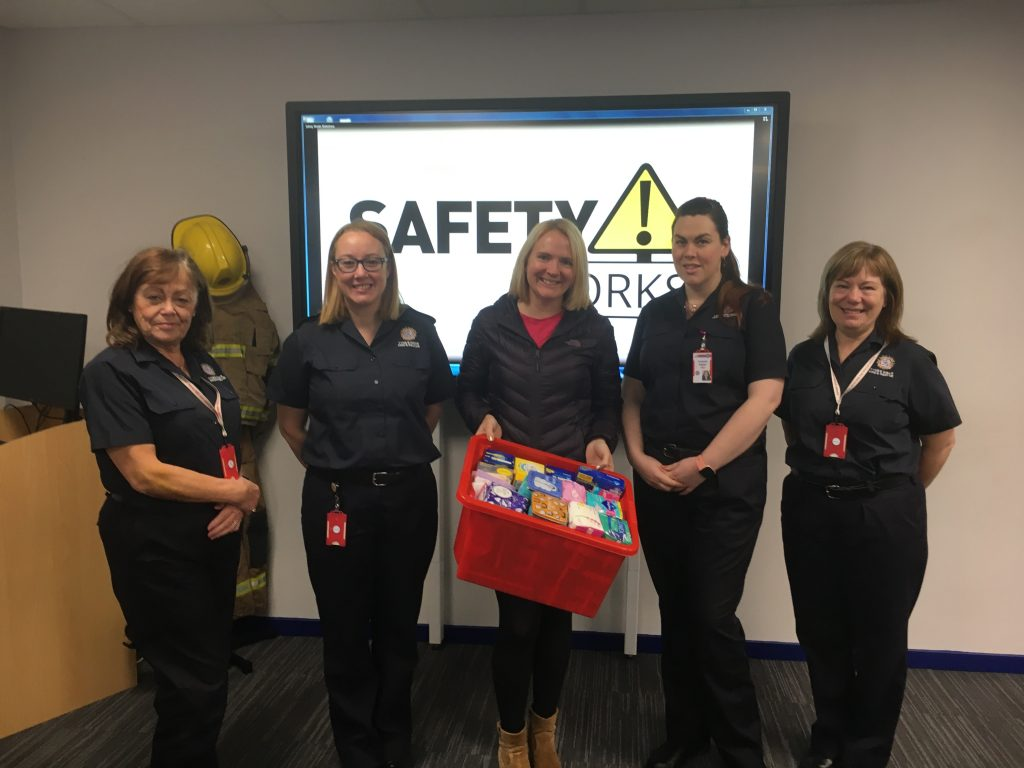 SafetyWorks staff with Cathryn Monteith and Jenny Hicken