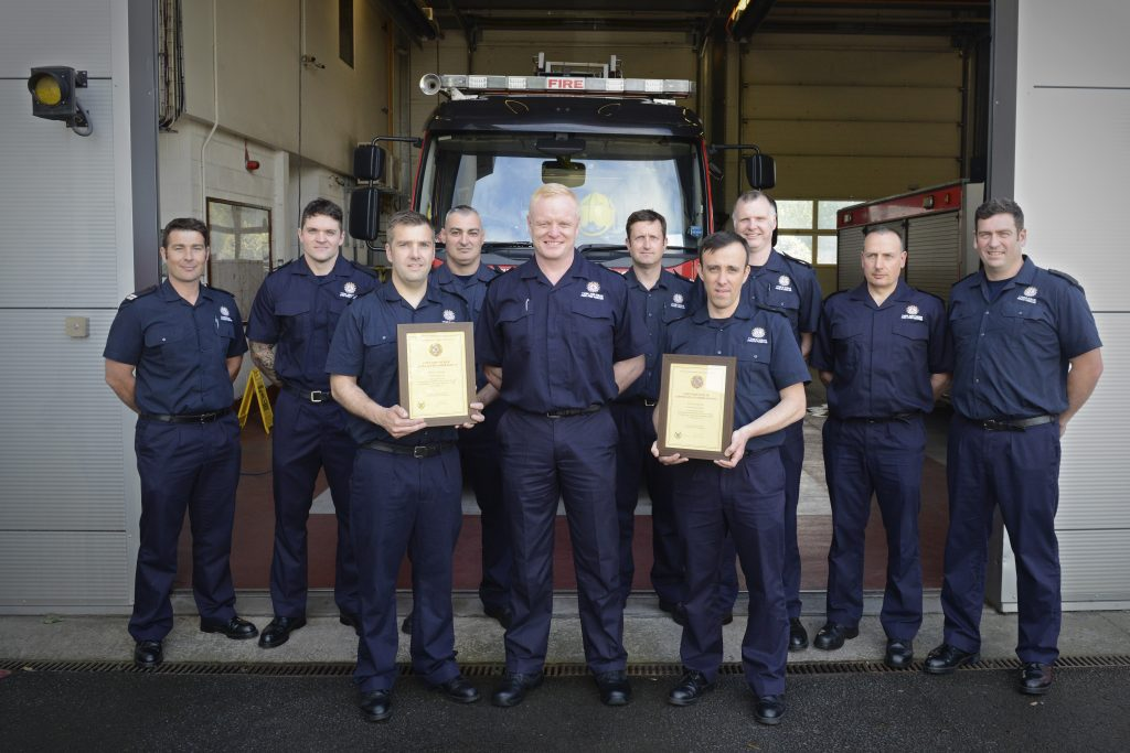CFO Lowther with Byker Green Watch crews